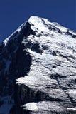 区jungfrau山峰 免版税库存照片