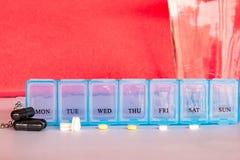 医学为一个星期做准备,医疗保健概念,准备medi 免版税库存照片