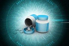 医学和瓶 向量例证
