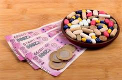 医学和货币 免版税库存图片