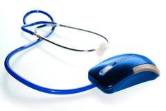 医学鼠标听诊器技术 图库摄影