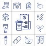 医学,医院项目,线性传染媒介象 库存图片