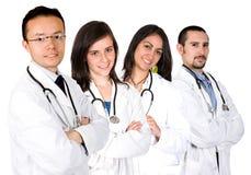 医治女性男性医疗队 库存图片