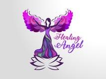 医治用的天使 向量例证