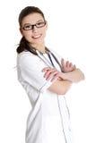 医生医疗护士微笑 免版税库存照片