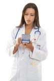医生医疗软件使用 免版税库存照片