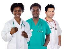 医生合作年轻人 免版税库存照片