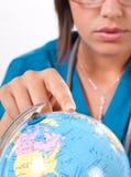 医生地球 免版税库存图片