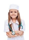 医生女孩一点护士使用 图库摄影