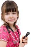 医生女孩一点 免版税库存照片