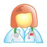 医生女性图标 免版税库存图片