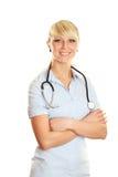 医生女性微笑 图库摄影