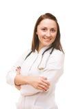 医生女性纵向年轻人 免版税库存照片