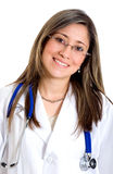 医生女性纵向 免版税库存图片
