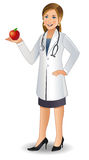 医生妇女年轻人 库存例证
