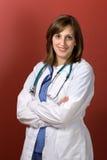 医生妇女年轻人 免版税库存图片