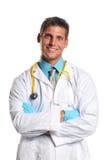 医生微笑的年轻人 免版税库存图片