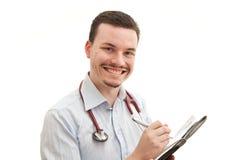 医生微笑 免版税图库摄影