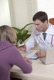 医生患者 免版税图库摄影