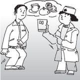 医生患者 免版税库存图片