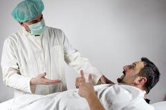 医生患者 免版税库存照片