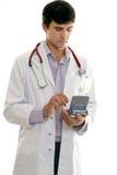 医生技术使用 免版税库存图片