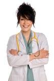 医生护士微笑的年轻人 库存照片