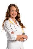 医生护士微笑的年轻人 免版税库存图片