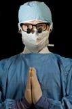医生祈祷 免版税图库摄影