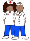 医生种族护士 库存照片