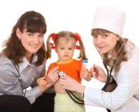 医生系列女孩一点 库存图片