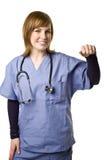 医生藏品查出的护士符号白色 免版税图库摄影