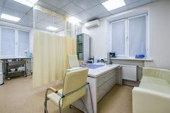 医生诊所的` s办公室内部  库存图片
