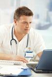 医疗专业人员纵向  免版税图库摄影