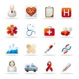 医疗保健图标 免版税库存图片