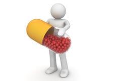 医疗保健新的药片处理 免版税库存图片