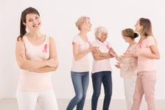 医疗保健概念,乳腺癌了悟 免版税库存照片