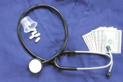 医疗保健的费用 免版税库存照片