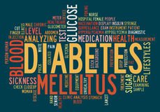 医疗保健糖尿病信息文本 图库摄影