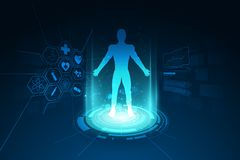 医疗医疗保健人体诊断模板概念后面 向量例证