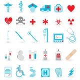 医疗图标向量集 免版税库存照片