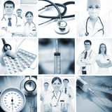 医疗图象拼贴画与新医生的 免版税图库摄影