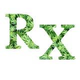医疗大麻RX 库存图片