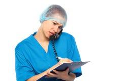 医疗害怕的医生 库存图片