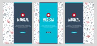 医疗小册子设计模板 与轴向医学象的飞行物,年终报告的现代Infographic概念 向量 向量例证