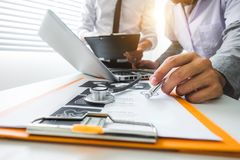 医疗技术概念 医生工作 免版税库存图片