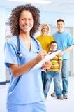 医疗护士微笑 免版税图库摄影