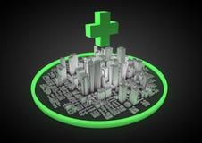 医疗抽象的城市 免版税图库摄影