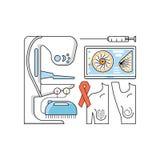 医疗援助概念 库存例证