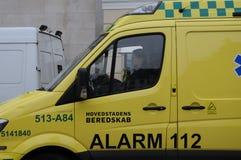 医疗救护车和警报 库存照片